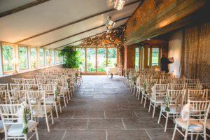Inside wedding venue